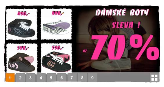 Dámské boty se slevou až 70%